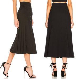 NWT ALC Amelie Black Midi Skirt Size 8